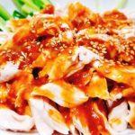 笠原シェフレシピ 焼き和風棒々鶏(バンバンジー)の作り方